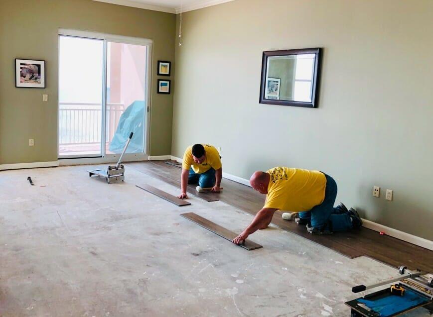 modern business home renovation men laying flooring nominated t20 8dPmBa